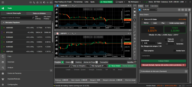 IC Markets cTrader Web