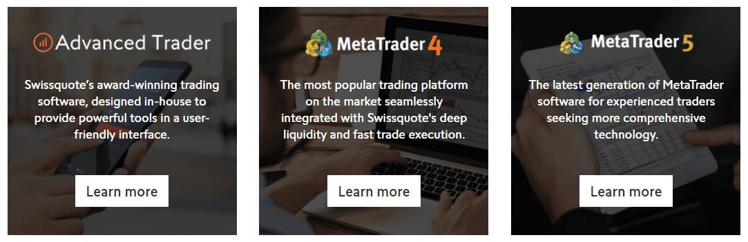 Swissquote Plataformas de Negociação