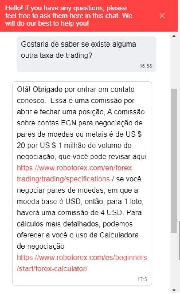 RoboForex Atendimento ao Cliente
