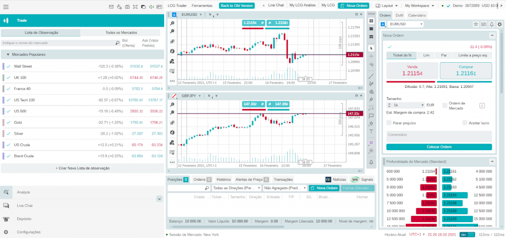 Plataforma LCG Trader